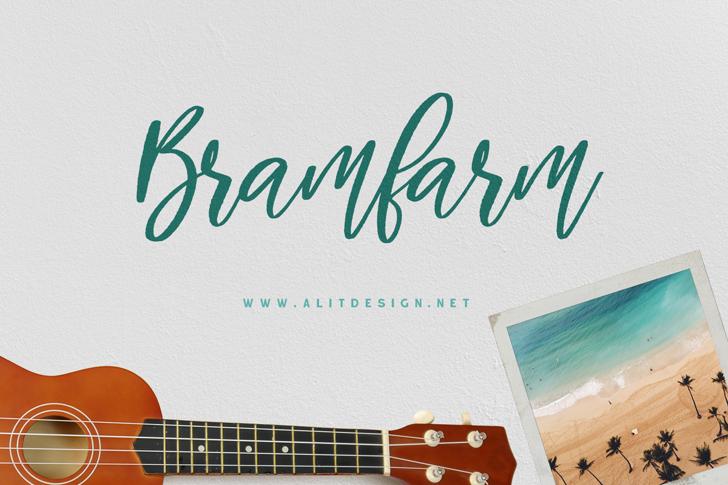Bramfarm Font design music
