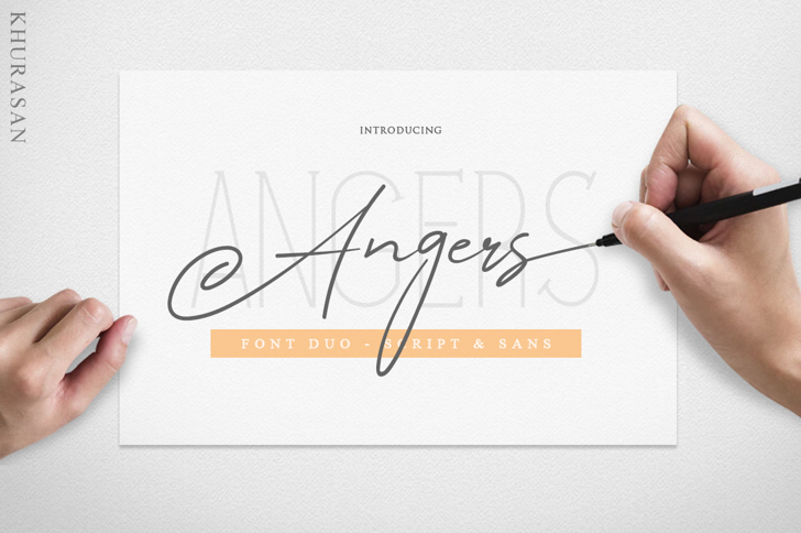 Angers Script Font poster