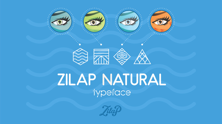 Zilap Natural Font cartoon screenshot
