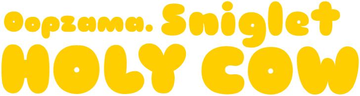 Sniglet Font cartoon vector graphics