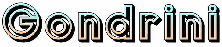 Gondrin Font clipart design