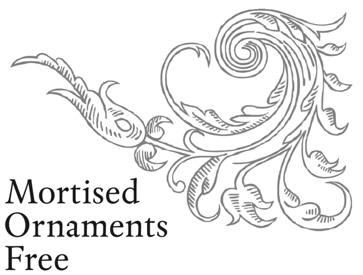 Mortised Ornaments Free Font sketch drawing