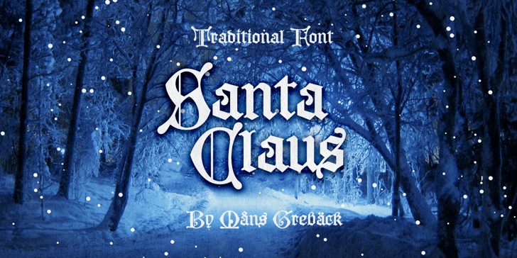 Santa Claus PERSONAL USE ONLY Font poster