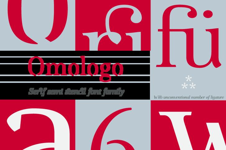 Omologo Personal Font poster design