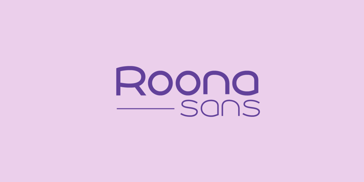 Roona Sans Medium PERSONAL Font design screenshot