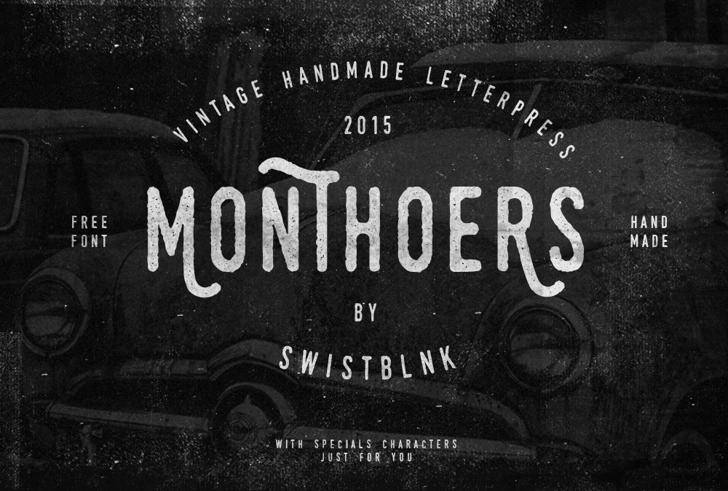Swistblnk Monthoers Font poster black