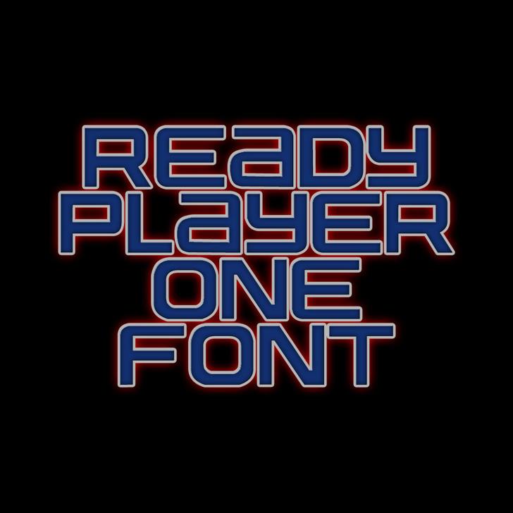 Ready Player One Font screenshot font