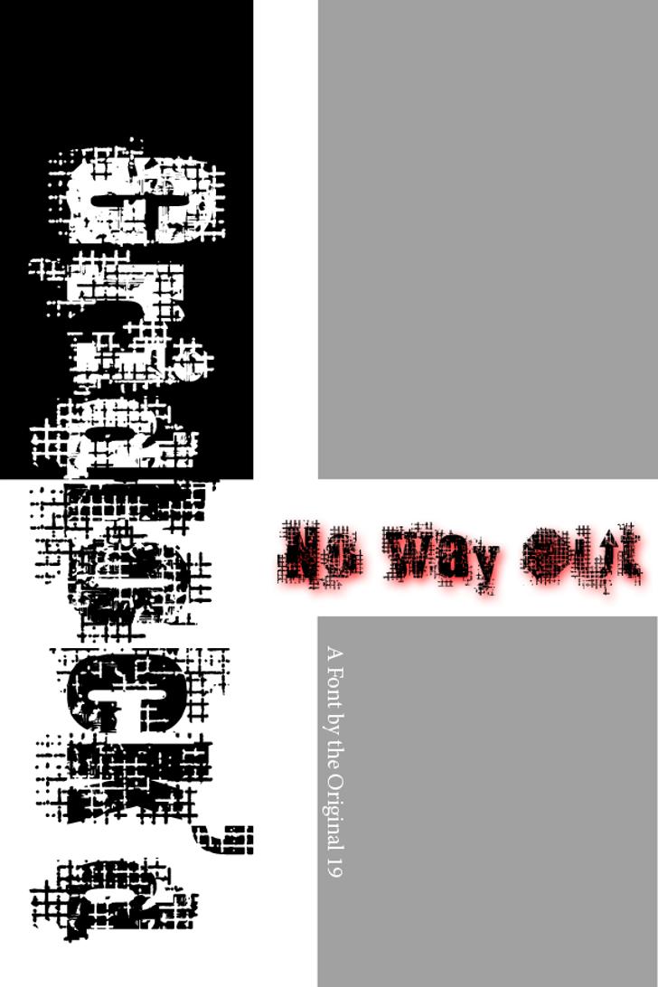 Gridlock'd Font design graphic