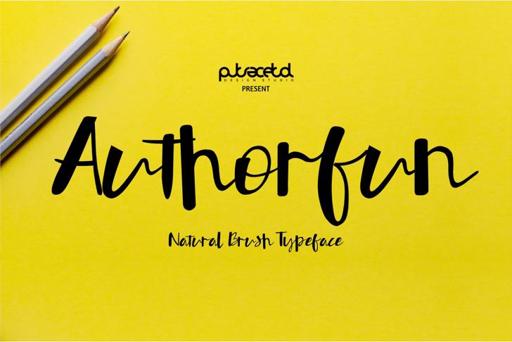 Authorfun Font handwriting text