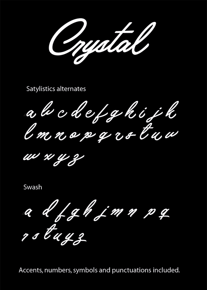 Crystal Personal Use Font text handwriting