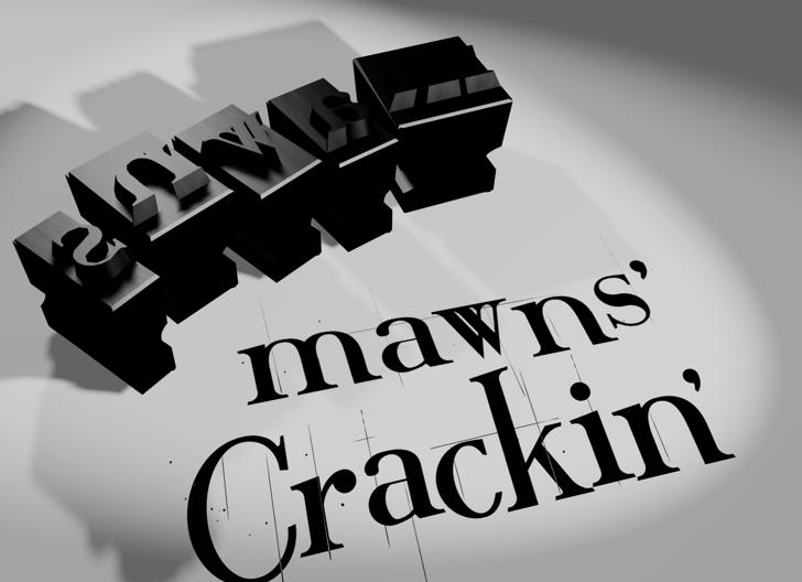 Crackin' Font poster cartoon