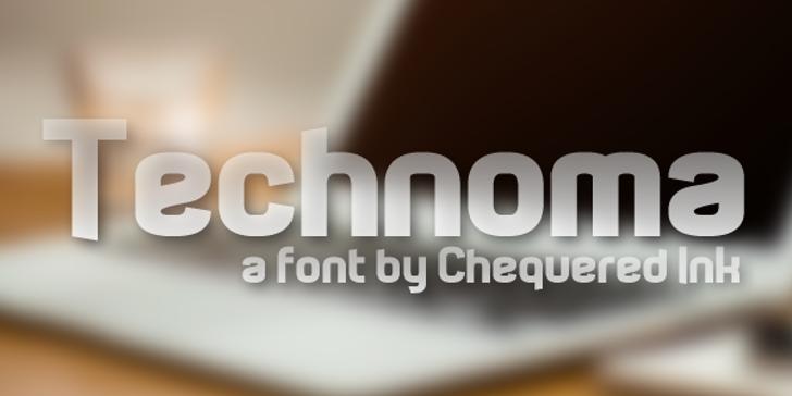Technoma Font screenshot design