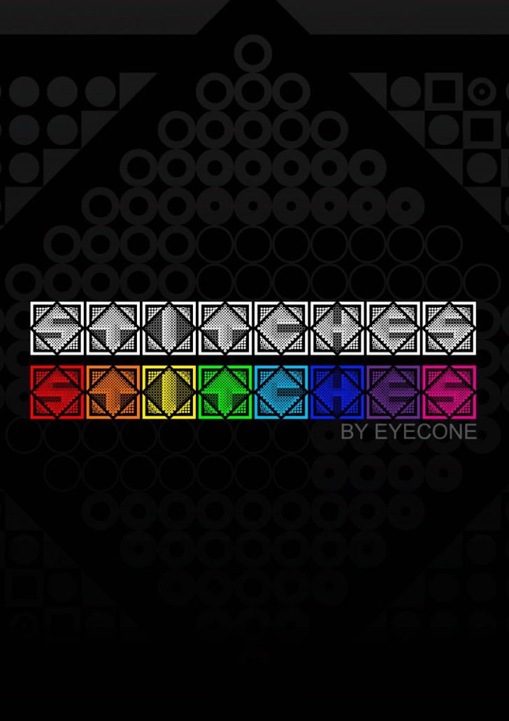 Stitches Font screenshot pattern