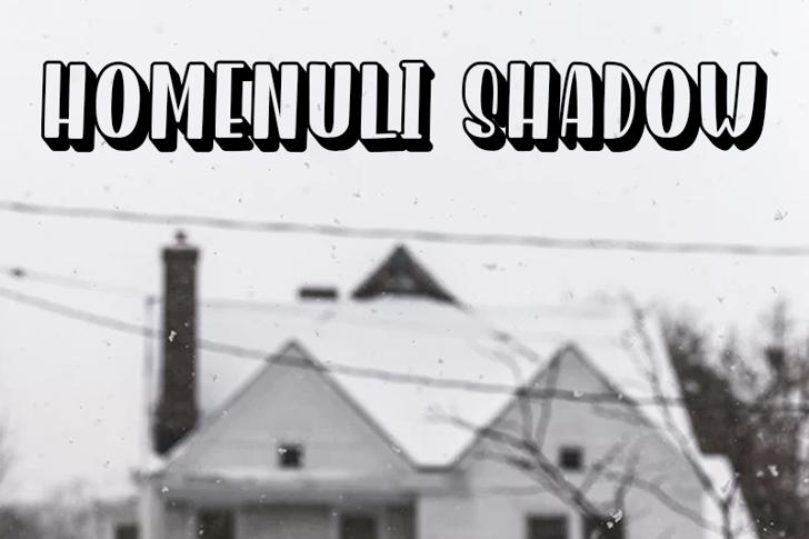 Homenuli Shadow Font house snow