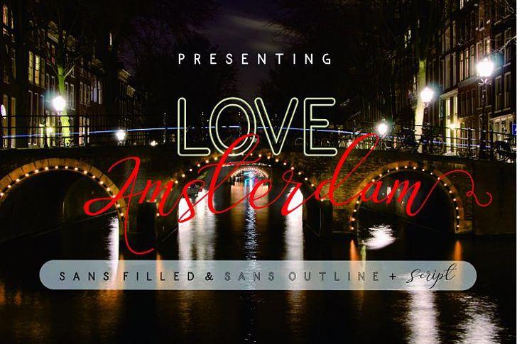 Love Amsterdam Script Font light screenshot