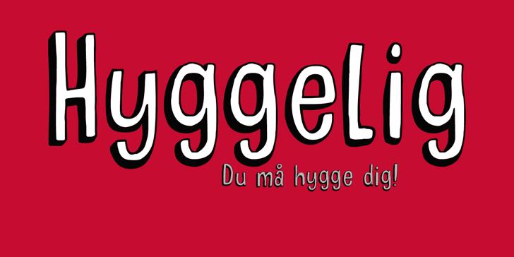 DK Hyggelig Font design graphic