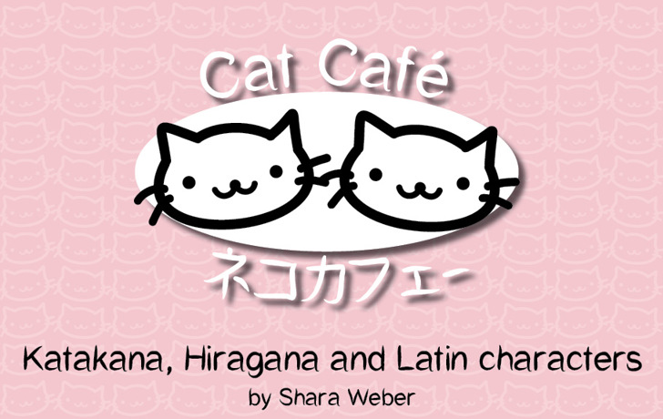 CatCafe Font cat design