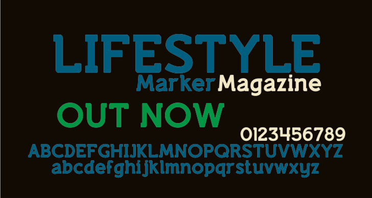 Lifestyle Marker M54 Font screenshot design