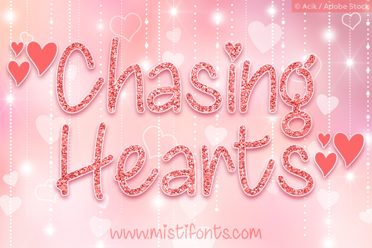 Chasing Hearts Font heart fashion accessory