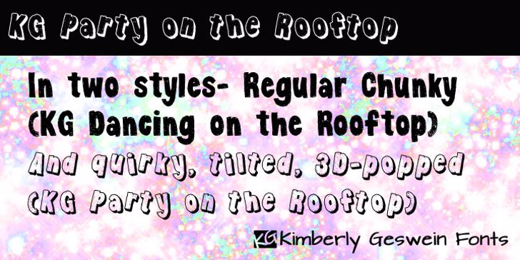 KG Party on the Rooftop Font screenshot font