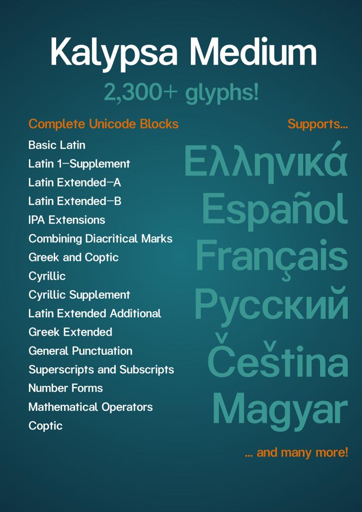 Kalypsa Font design text