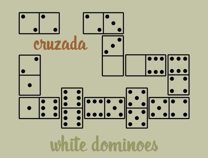WhiteDominoes Font crossword puzzle screenshot