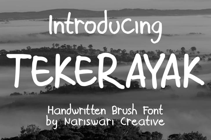 Tekerayak Demo Font poster