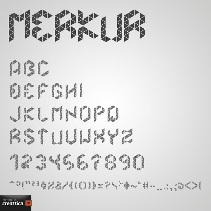Merkur Font handwriting text