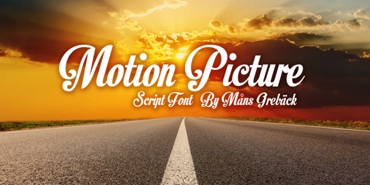 Motion Picture Personal Use  Font sky road