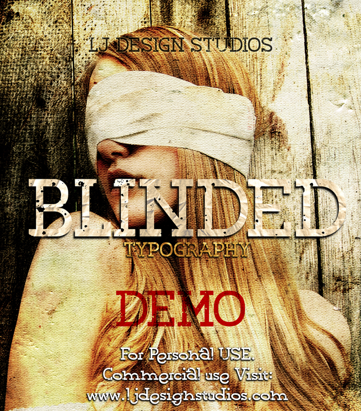 Blinded PERSONAL USE Font text poster