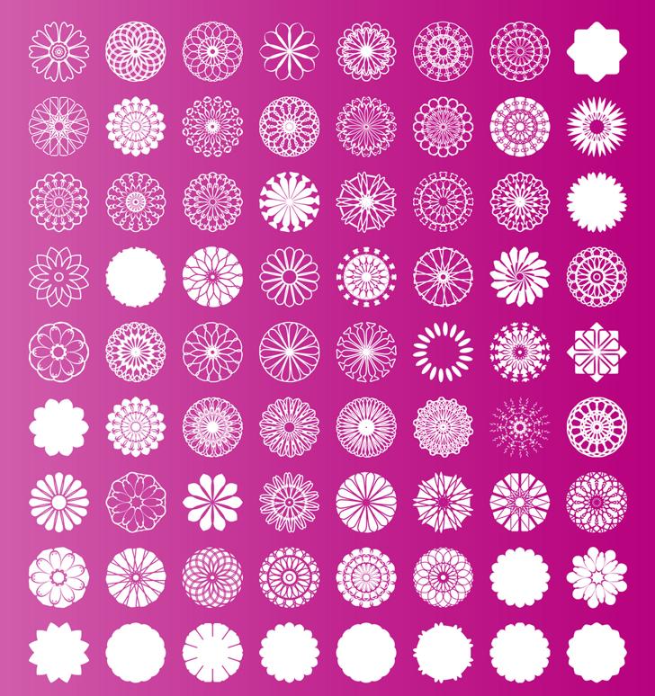 shapes pro Font pattern motif