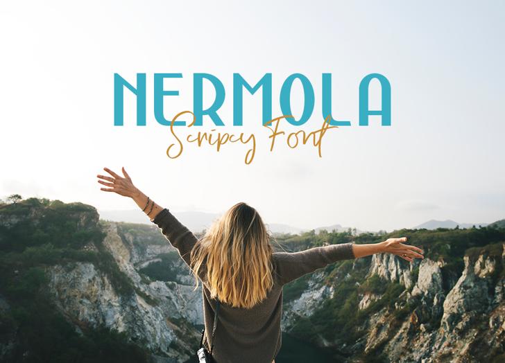 Nermola Script Font outdoor nature