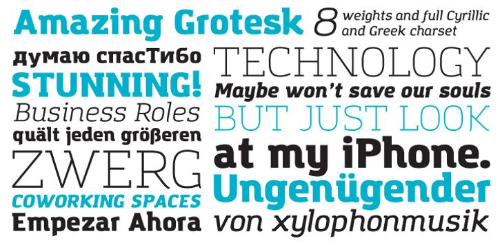 Amazing Grotesk Font typography design