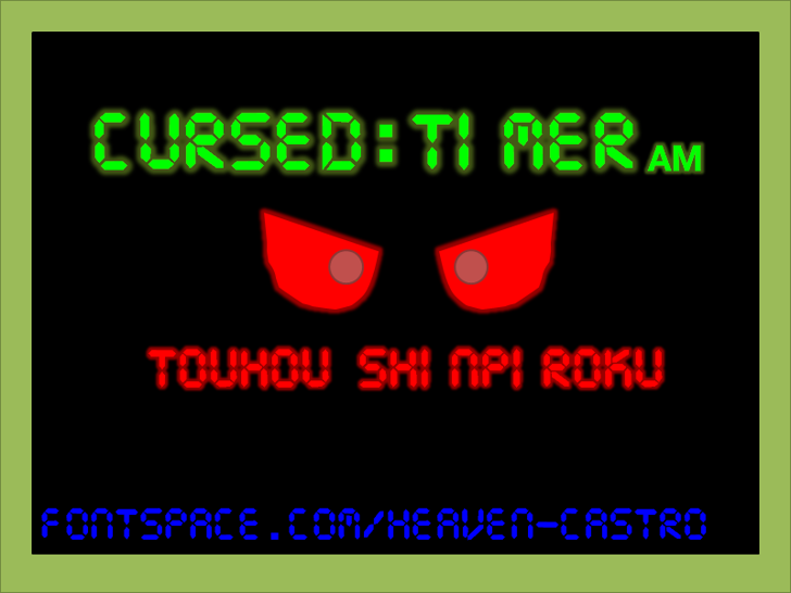 Cursed Timer ULiL Font screenshot cartoon
