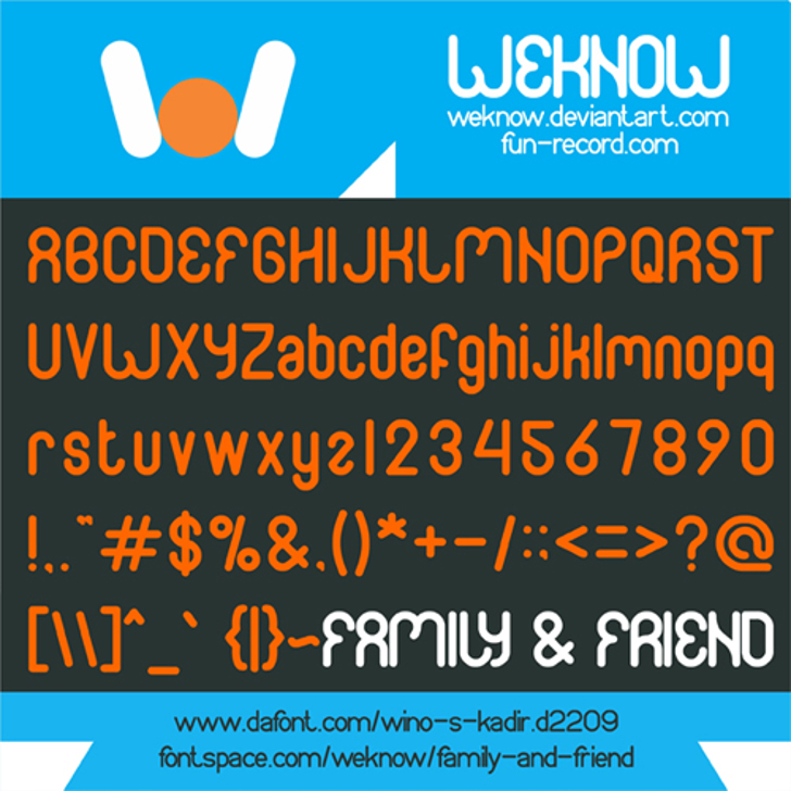 FAMILY & friend Font screenshot text