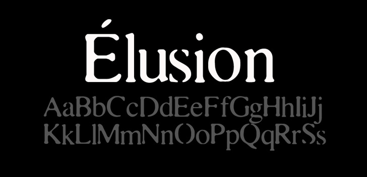 Elusion Font text typography