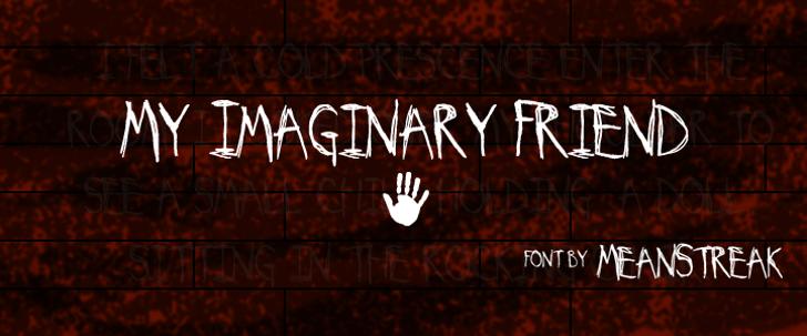 My Imaginary Friend Font screenshot text