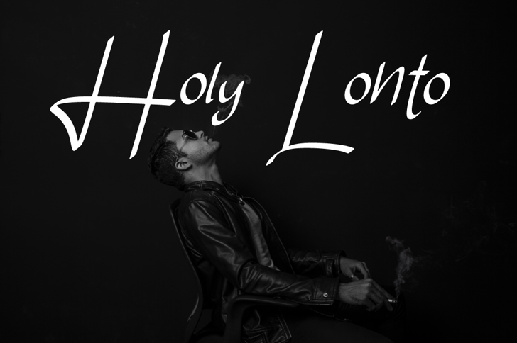 Holy Lonto Font text poster
