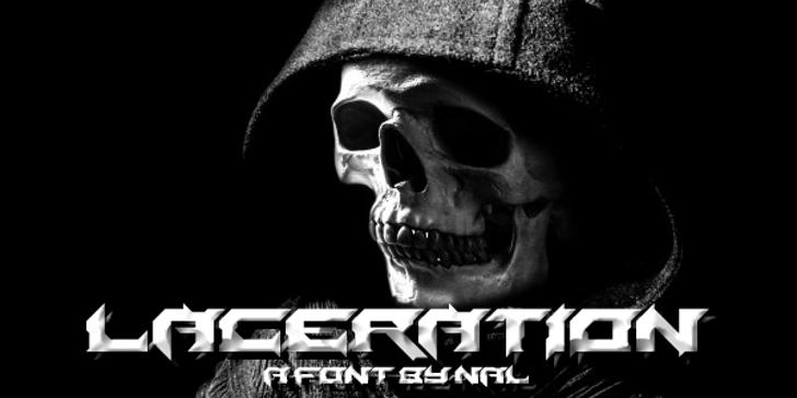 Laceration Font skull poster