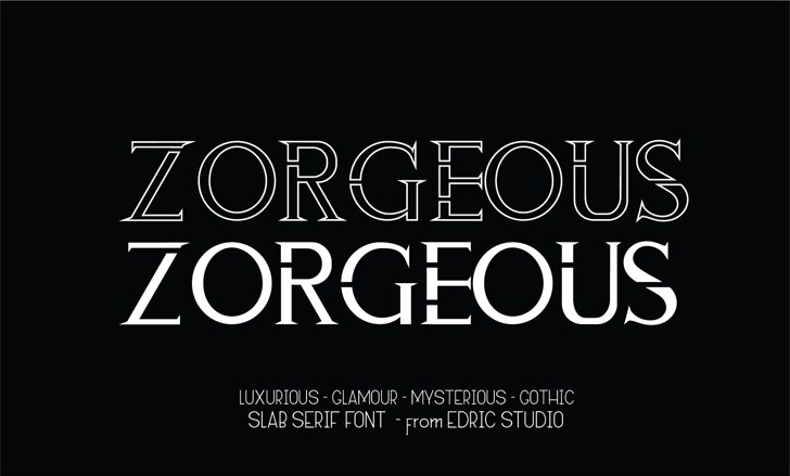 ZORGEOUS Font screenshot design