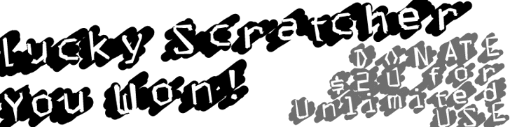 LuckyScratcher Font design cartoon