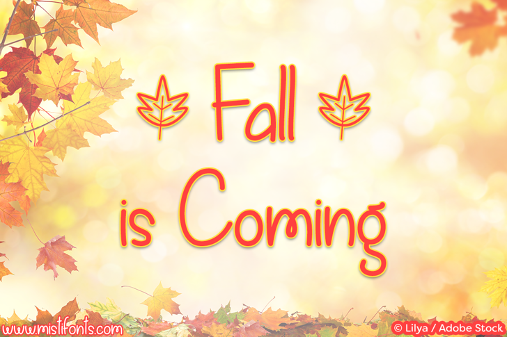 Fall is Coming Font design text