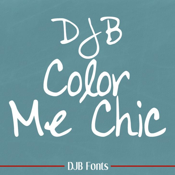 DJB Color Me Chic Font blackboard handwriting