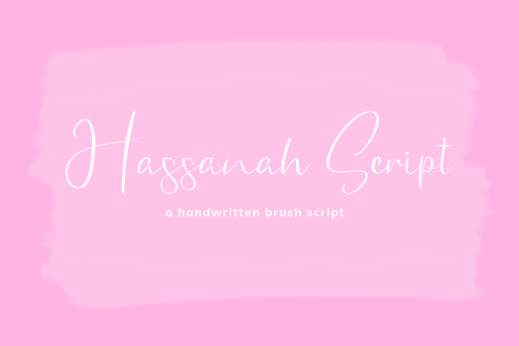 Hassanah SIgnature Font poster