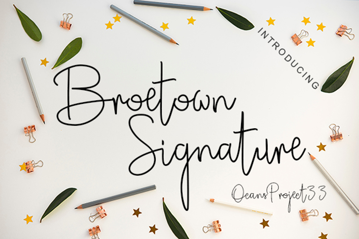 Broetown Signature Font text handwriting
