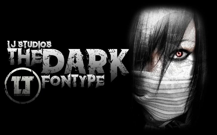 the dark Font person black and white