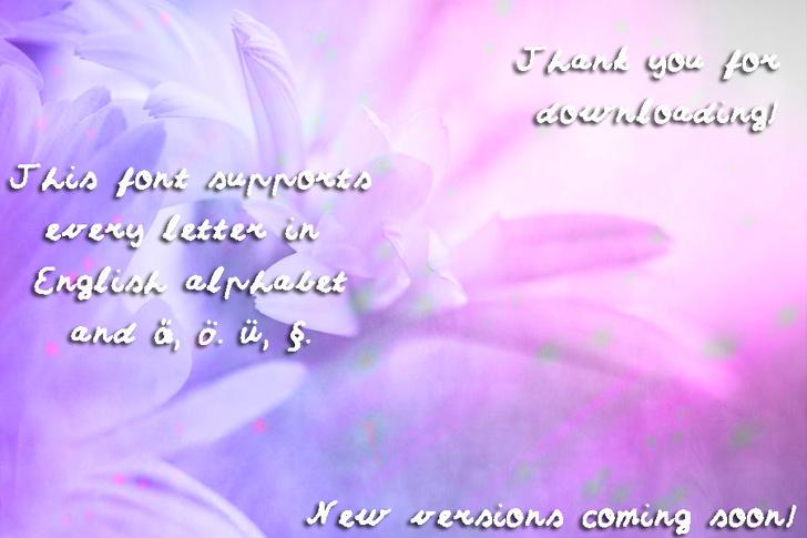 Sumirca_s_Handwriting Font flower text