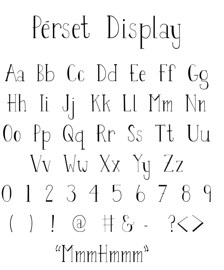 Perset Font handwriting font
