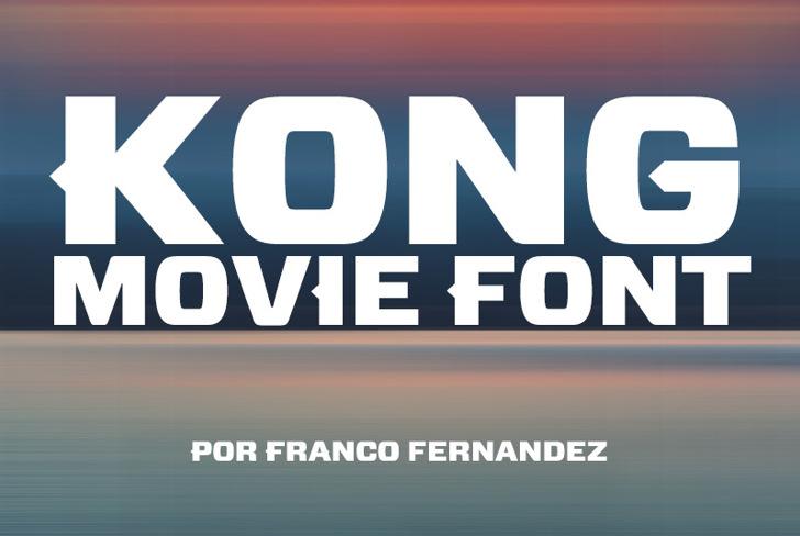 Kong Font screenshot design