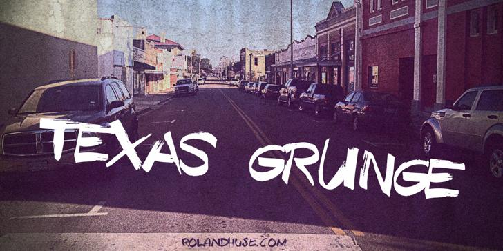 Texas Grunge Demo Font car vehicle